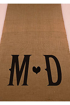 Personalized Vineyard Burlap Aisle Runner 9423P1192