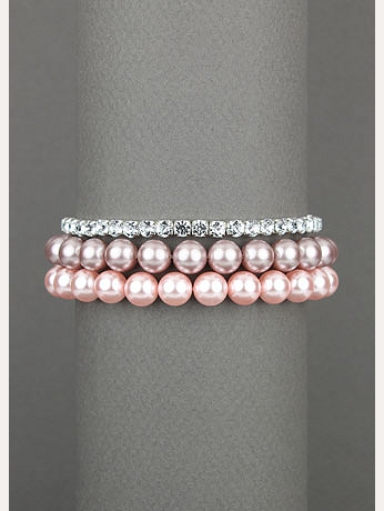 Pink Pastel and Clear Bracelet 21863412