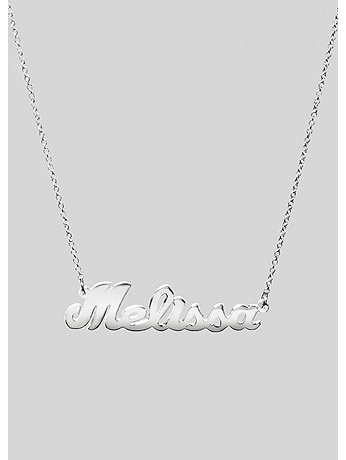 Personalized Sterling Silver Nameplate Necklace SOJNN