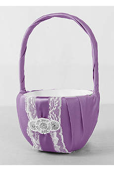 DB Exclusive Pearl Lace Flower Girl Basket