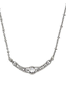 Downton Abbey Silver Crystal Collar Necklace 17596