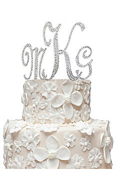 Monogram Cake Topper with Swarovski Crystals MCTSXLXSX