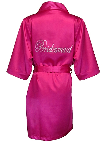 DB Exclusive Bridesmaid Satin Robe DBBMROBE