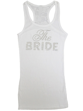 DB Exclusive The Bride Lace Racerback Tank DBBRLACE