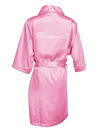 Rhinestone Bridesmaid Satin Robe DBBMRB