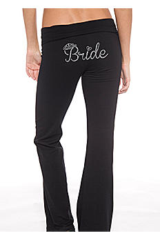 Bride Rhinestone Crown Yoga Pants D19PANT