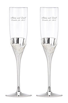 Personalized Lenox True Love Toasting Flutes DB812613