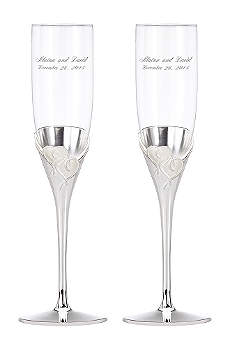 Personalized Lenox True Love Toasting Flutes