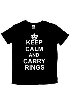 Keep Calm and Carry Rings Ring Bearer Tee DBKCCR