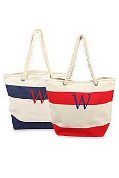 DB Exclusive Personalized Striped Canvas Tote 2177
