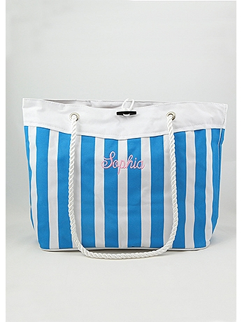 DB Exclusive Personalized Nautical Stripe Tote WH53