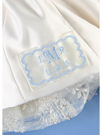 Personalized Monogram Scalloped Border Dress Label DB71025