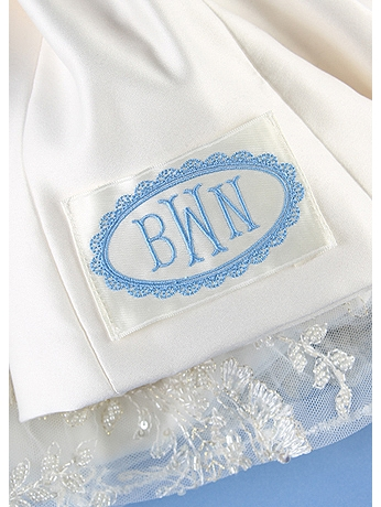 DB Exc Personalized Oval Border Dress Label DB71024