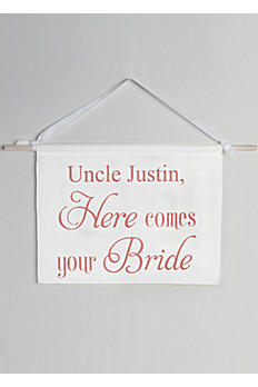 Personalized Canvas Here Comes Your Bride Sign DB71028