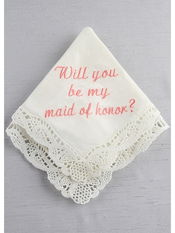 DB Exc Will You Be My Maid of Honor Hankie DB71021