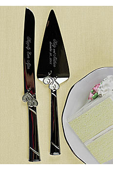 Personalized Lenox True Love Cake Knife and Server DB812615
