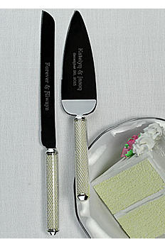 Personalized Lenox Pearl Cake Knife and Server DB772472