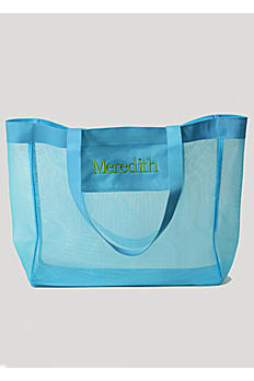 DB Exclusive Personalized Turquoise Mesh Tote Bag 41181178