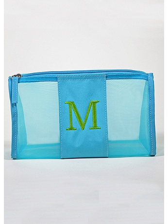 DB Exclusive Personalized Turquoise Mesh Pouch 41181180