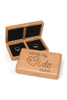 Personalized I Do Wooden Ring Box