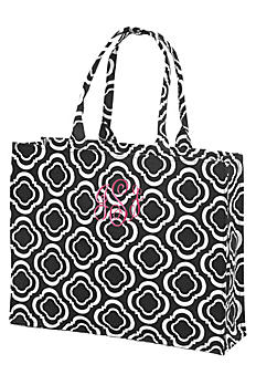 DB Exc Personalized Black and White Canvas Tote 42581165