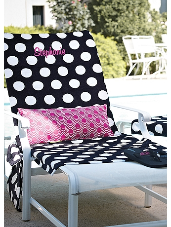 DB Exc Personalized Polka Dot Lounge Chair Cover 42581102