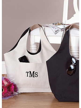 DB Exc Personalized Reversible Black and Tan Tote 41181169