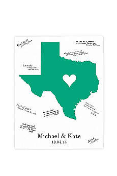 Personalized Home State Canvas Guest Book