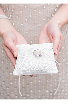 Beaded Miniature Ring Pillow 9767