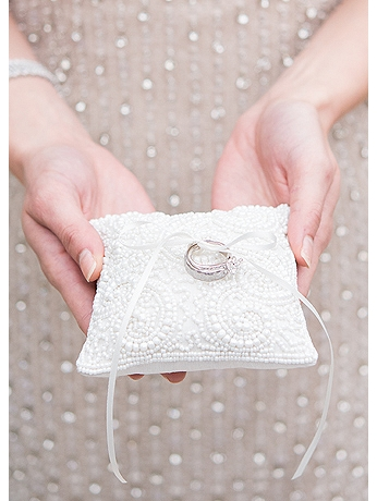 Beaded Miniature Ring Pillow 9767