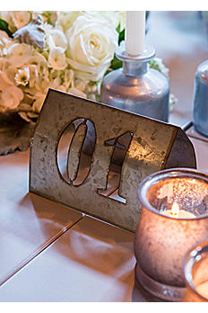 Laser Cut Self Standing Metal Table Numbers 9818