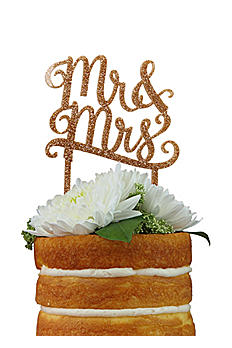 DB Exclusive Mr and Mrs Gold Cake Topper MRMRS