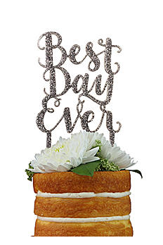 DB Exclusive Best Day Ever Silver Cake Topper BESTDAY