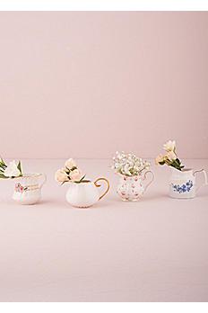 Vintage Creamer Assortment Vase Favors Set of 4 9771