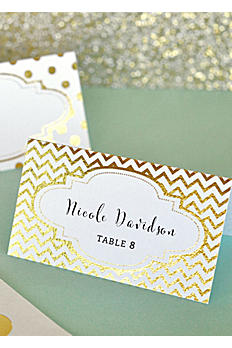 Metallic Foil Place Cards Set of 12 EB3044