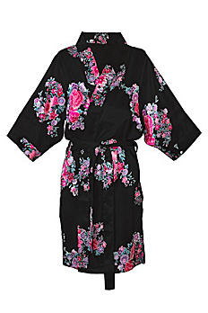 DB Exclusive Personalized Floral Satin Robe 1806