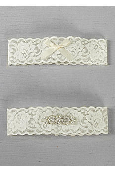 DB Exclusive Lace Elegance Bridal Garter Set DB83BG