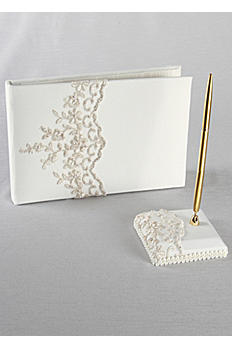 DB Exclusive Beaded Lace Guest Book w/ Pen GBP440