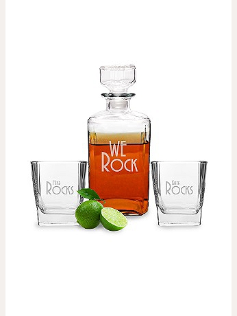 Personalized We Rock Decanter Set P-RS1193