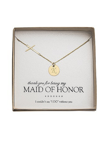 Personalized Cross Necklace with Charm N9109