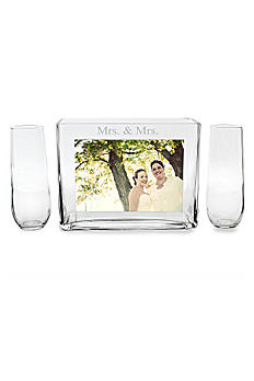 Mrs. and Mrs. Sand Ceremony Photo Vase Unity Set MRS-PS1528