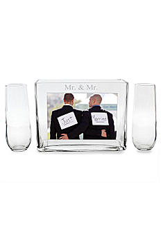 Mr. and Mr. Sand Ceremony Photo Vase Unity Set MR-PS1528
