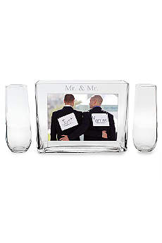Mr. and Mr. Sand Ceremony Photo Vase Unity Set