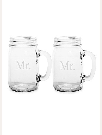 Mr. and Mr. Old Fashioned Drinking Jar Set MR1190-2
