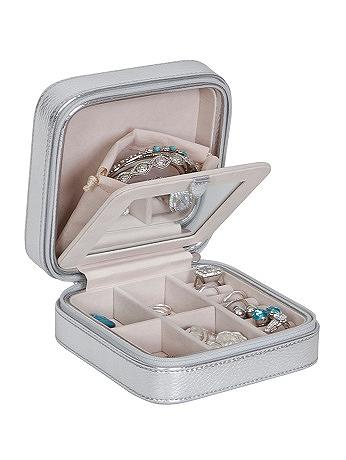 Luna Travel Jewelry Case in Metallic Faux Leather 00627F14