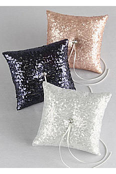 Sequin Ring Bearer Pillow DB01270RP