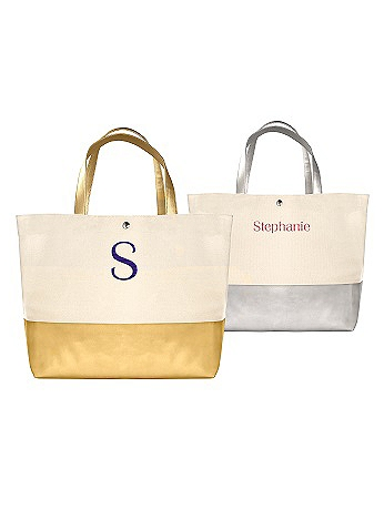 DB Exclusive Personalized Metallic Dipped Tote Bag 2099