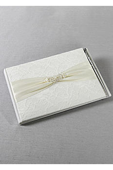 DB Exclusive Lace Elegance Guest Book With Pen DB83GBP