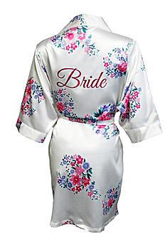 Floral Robe with Glitter Bride CECEROBE