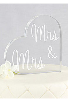 Mrs and Mrs Heart Acrylic Cake Topper X15035/B